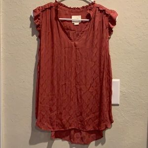 Anthropologie dusty rose top